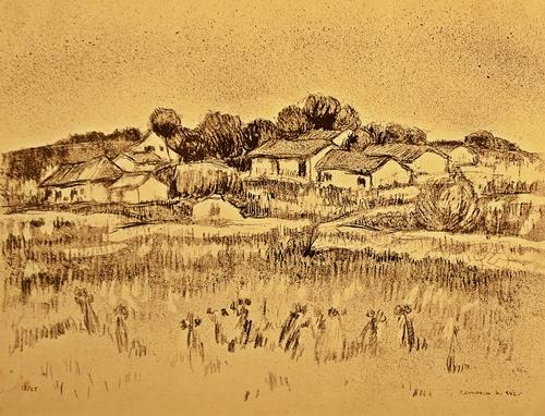 Cernescu Nicolae ( 1895-1979 ) Peisaj - Landscape