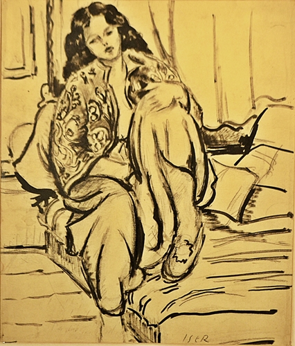 ISER IOSIF ( 1881-1958 ) Odaliscã - Odalisque