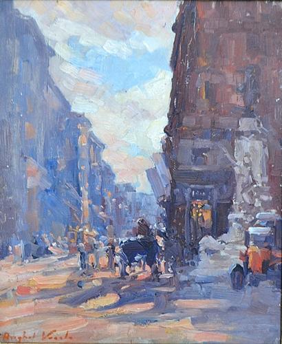 ANGHEL VASILE ( 1895-1947 ) Stradã în Roma - Street in Rome