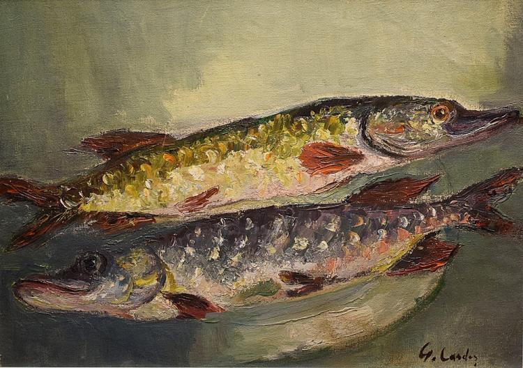 Cardaș Geo (1891-1979) - Natură statică cu pești / Still life with fish