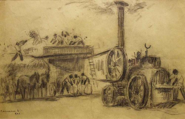 Cernescu Nicolae (1895 - 1979) - La batoză / At the thresher