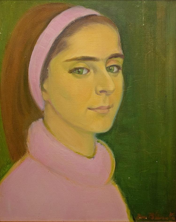 Zina Blănuță ( Etschberger) ( 1913 - 1998) - Bentiță roz / Pink headband