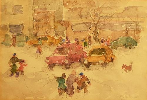 MURARIU ION ( 1922-2012 ) Prima zãpadã / First snow