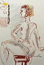 COSTINESCU AUGUSTIN (n. 1943 ) Model în atelier / Model in studio
