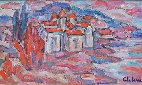 ELENA UȚĂ CHELARU ( 1930-2013 ) Peisaj italian / Italian landscape