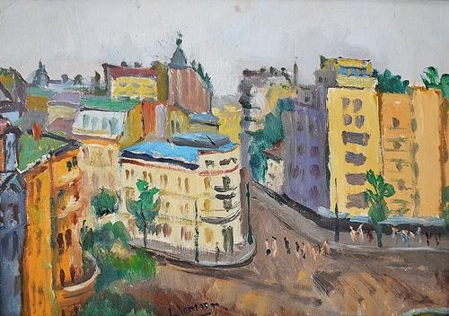 IONESCU GHEORGHE ( 1912-1990 ) Piața Kogălniceanu / Kogalniceanu Square