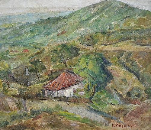 BĂJENARU DAN ( 1900-1988 ) Case între dealuri / Houses among hills