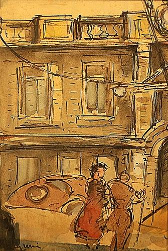 POPESCU NEGRENI ION ( 1907-2001 ) În oraș / In town