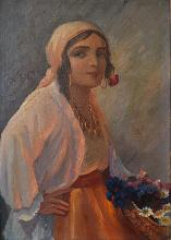 BOGDANOVICI SAMUEL Florãreasã cu salbã / Flower girl with necklace