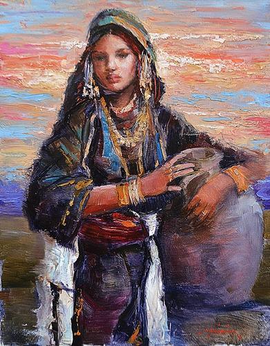 CHELARU TIBERIU (n. 1967 ) Tânãrã cu ulcior / Yound woman with jar