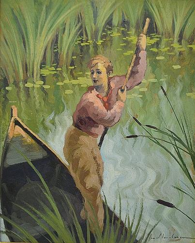 IACOBESCU IONEL ( 1903-1968 )Luntrași / The Boatman