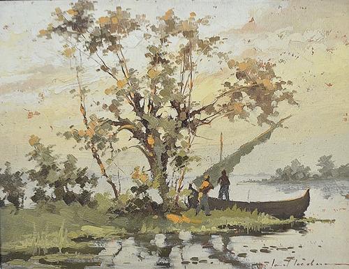 IACOBESCU IONEL ( 1903-1968 ) În deltã / In the delta