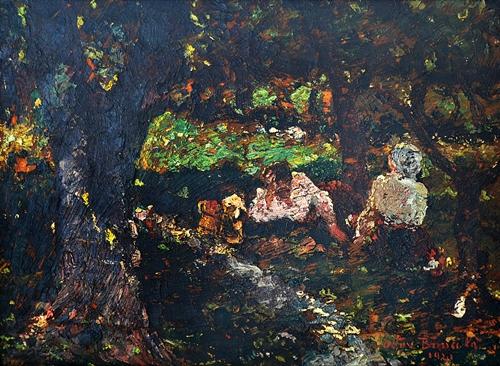 BĂNCILĂ OCTAV Odihnă la marginea pădurii/Resting near the forest