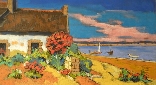 Adam Sorin (1968 - ) Peisaj în Bretania/ Landscape in Bretagne