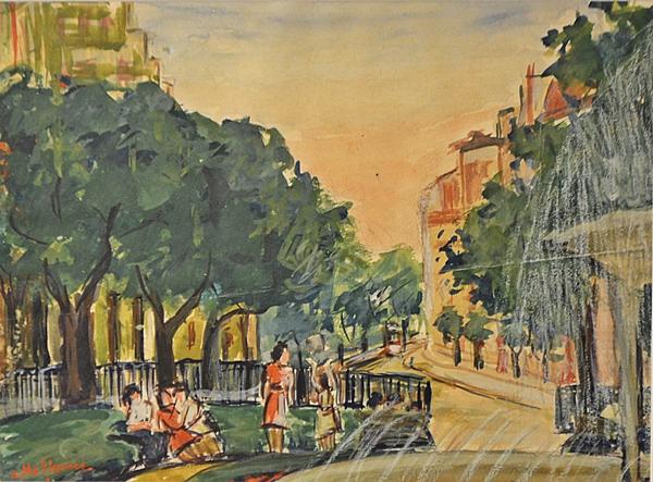 Mețianu Coca (1910 - 2014) Peisaj citadin/ A city view