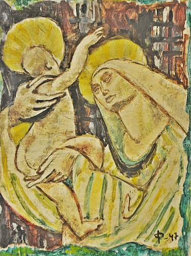 Olariu Iulian (1922-1991) Madona cu pruncul/ Madonna and Child