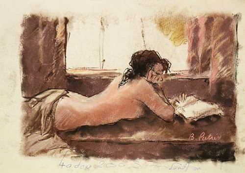 Bogdan Pietriș (1945 - 2006) Nud la ferestră/ Nude at the window