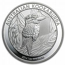2014 1 oz Silver Australian Kookaburra