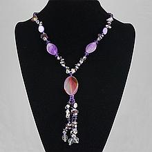 Fashion Jewelry Multi Glass Bead Necklace 59.20 grams