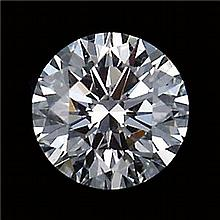 GIARound Diamond Brilliant,0.54ctw,D,SI2