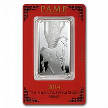 1 oz Pamp Suisse Silver Bar - Year of the Horse (In Assay