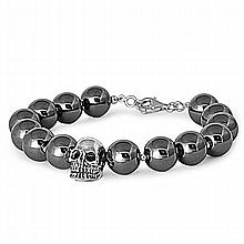 Silver Bracelet W/Hematite