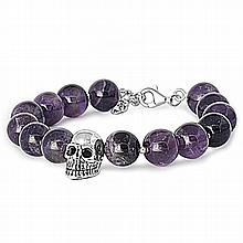 Silver Bracelet W/ Amethyst