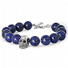 Silver Bracelet W/Lapis