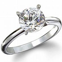 GIA CERTIFIED 0.71 Carat  SOLITAIRE RING,  I,I2 14KT W GOLD