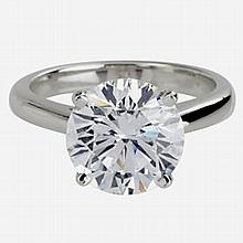 GIA CERTIFIED 0.71Carat ,SOLITAIRE RING ,F,I3 14KT W GOLD