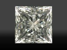 GIAPrincess Cut Diamond 0.37ctw JSI1