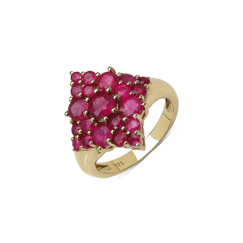 3.16 CTW Genuine Ruby .925 Streling Silver Ring
