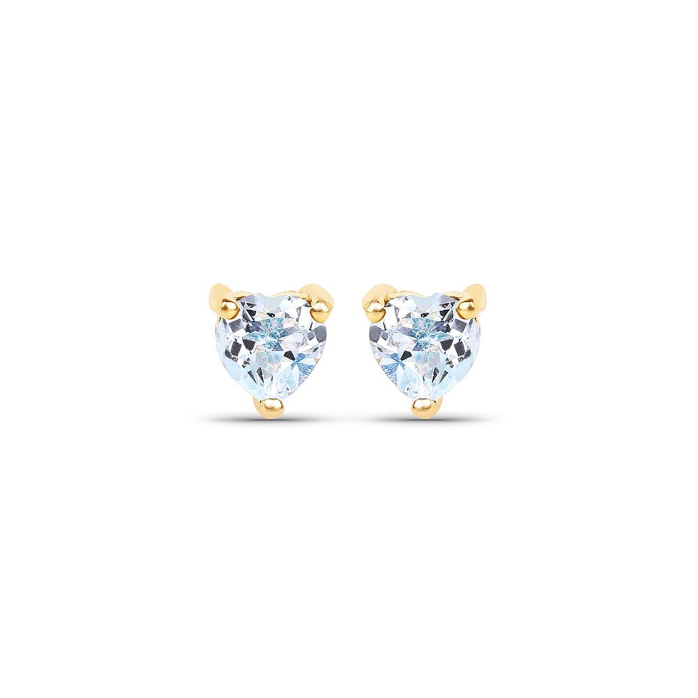 0.70 CTW Genuine Blue Topaz 10K Yellow Gold Earrings
