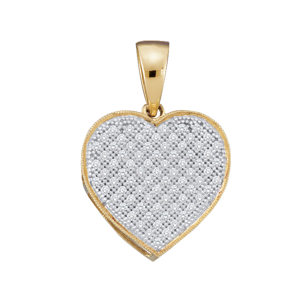 Diamond Heart Pendant 10kt Yellow Gold
