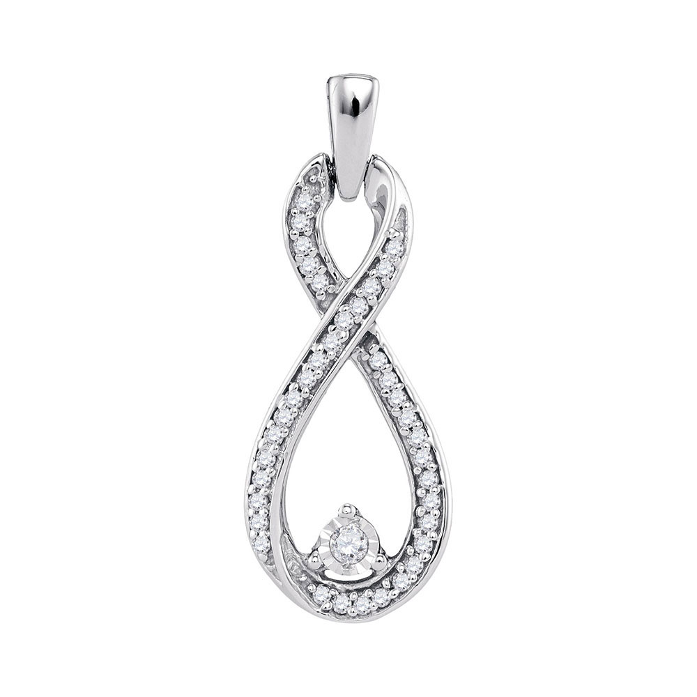 Diamond Infinity Pendant 10kt White Gold