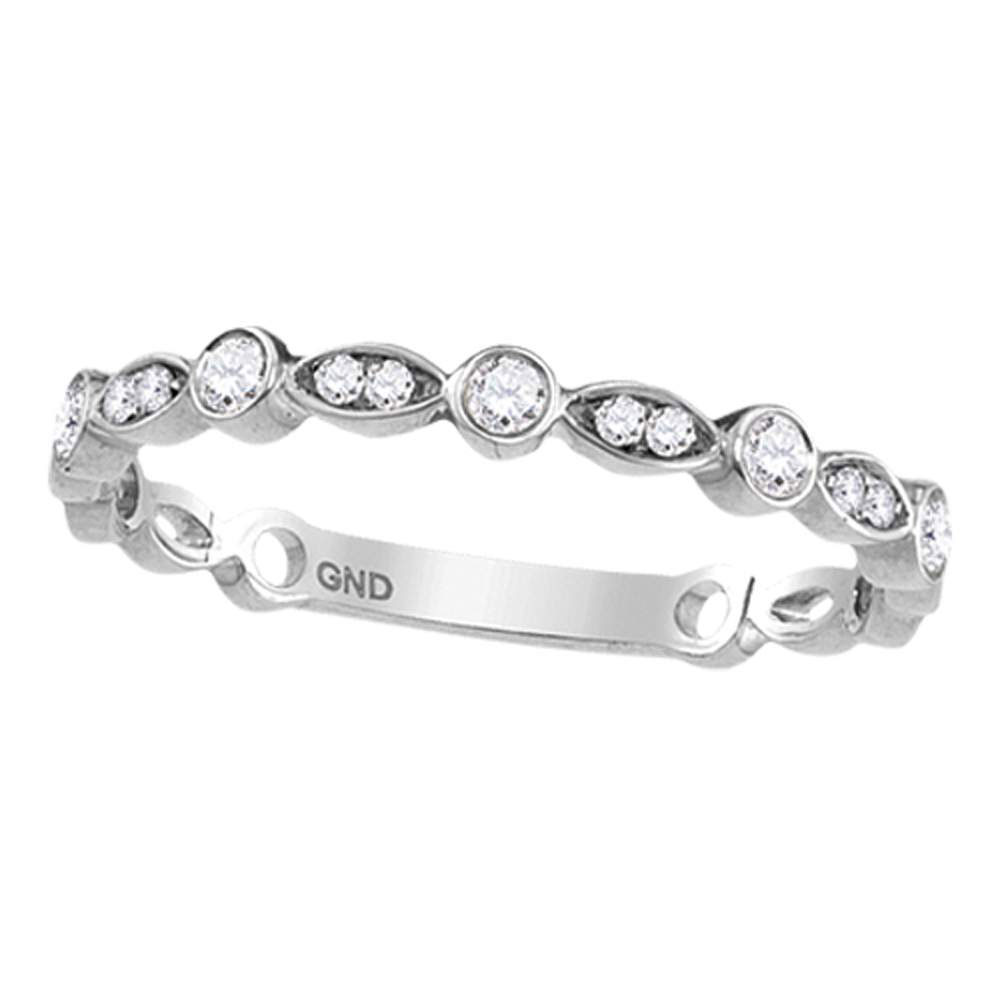 Diamond Stackable Band 10kt White Gold