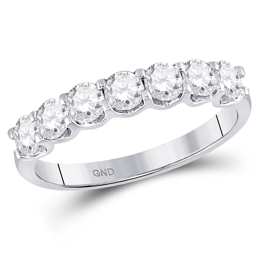 Single Row Diamond Band 14kt White Gold