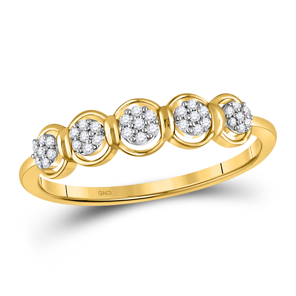 Diamond Cluster Ring 10kt Yellow Gold
