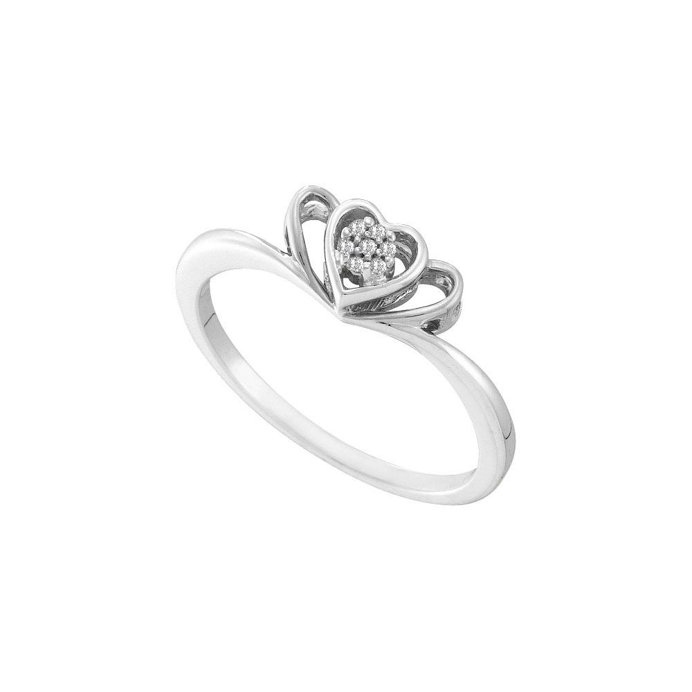 Diamond Heart Ring 10kt White Gold