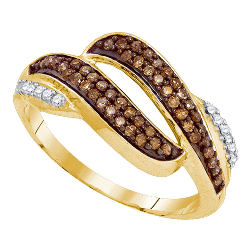 Brown Diamond Band 10kt Yellow Gold