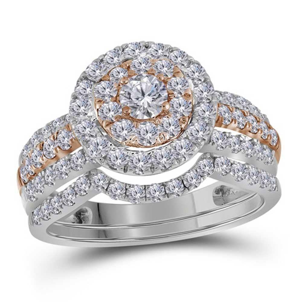 14K 2-tone Gold Ring 1.56ctw Diamond
