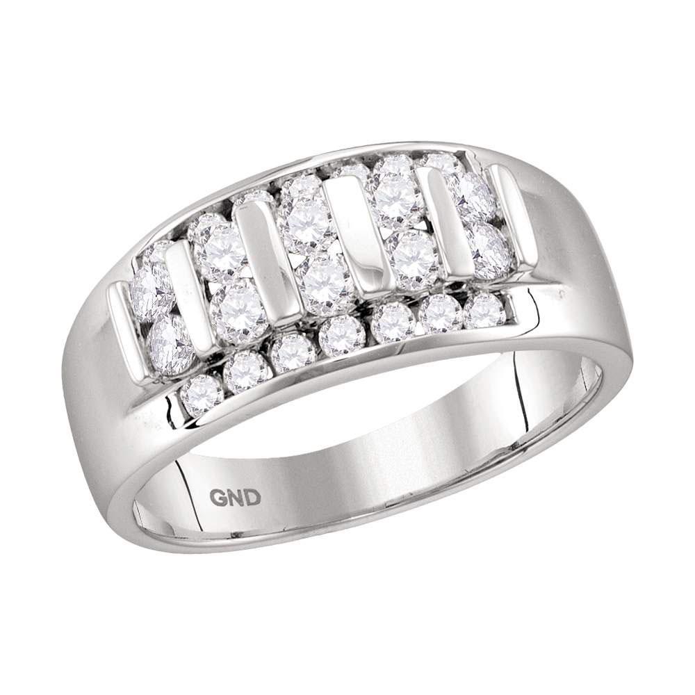 10K White Gold Ring Raised 0.96ctw Diamond