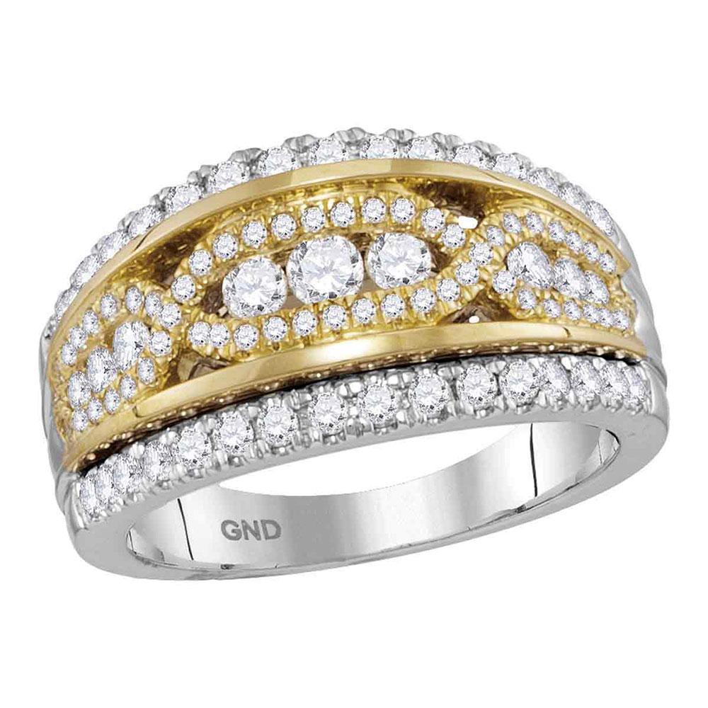 14K 2-tone Gold Ring 1ctw Diamond