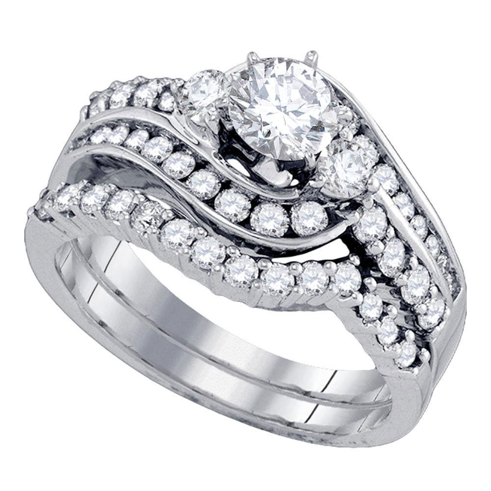 14K White Gold Ring 1.5ctw Diamond