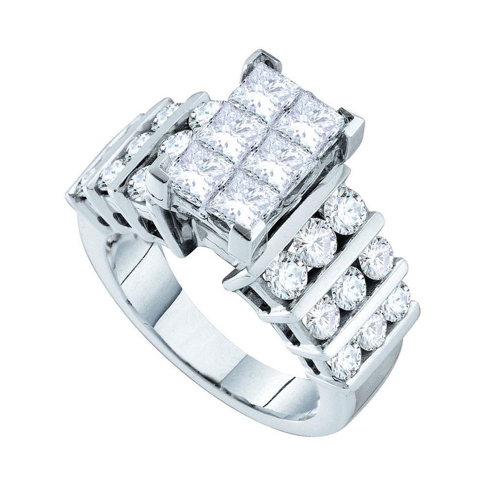 14K White Gold Ring Cluster 1ctw Diamond