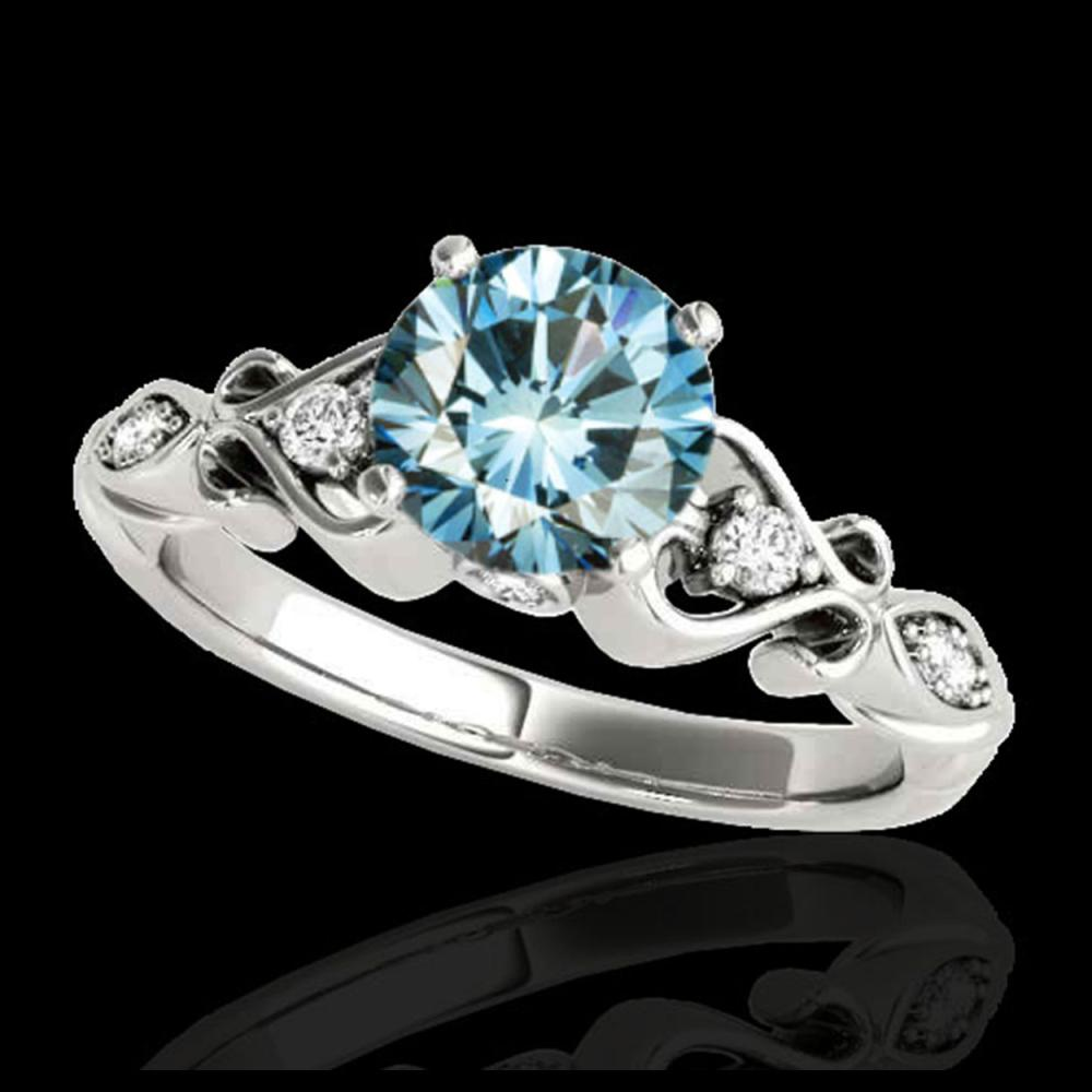 1.15 ctw SI Fancy Blue Diamond Ring 10K White Gold