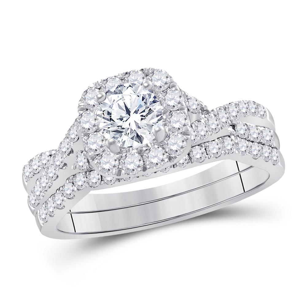 14K White Gold Ring 1ctw Diamond