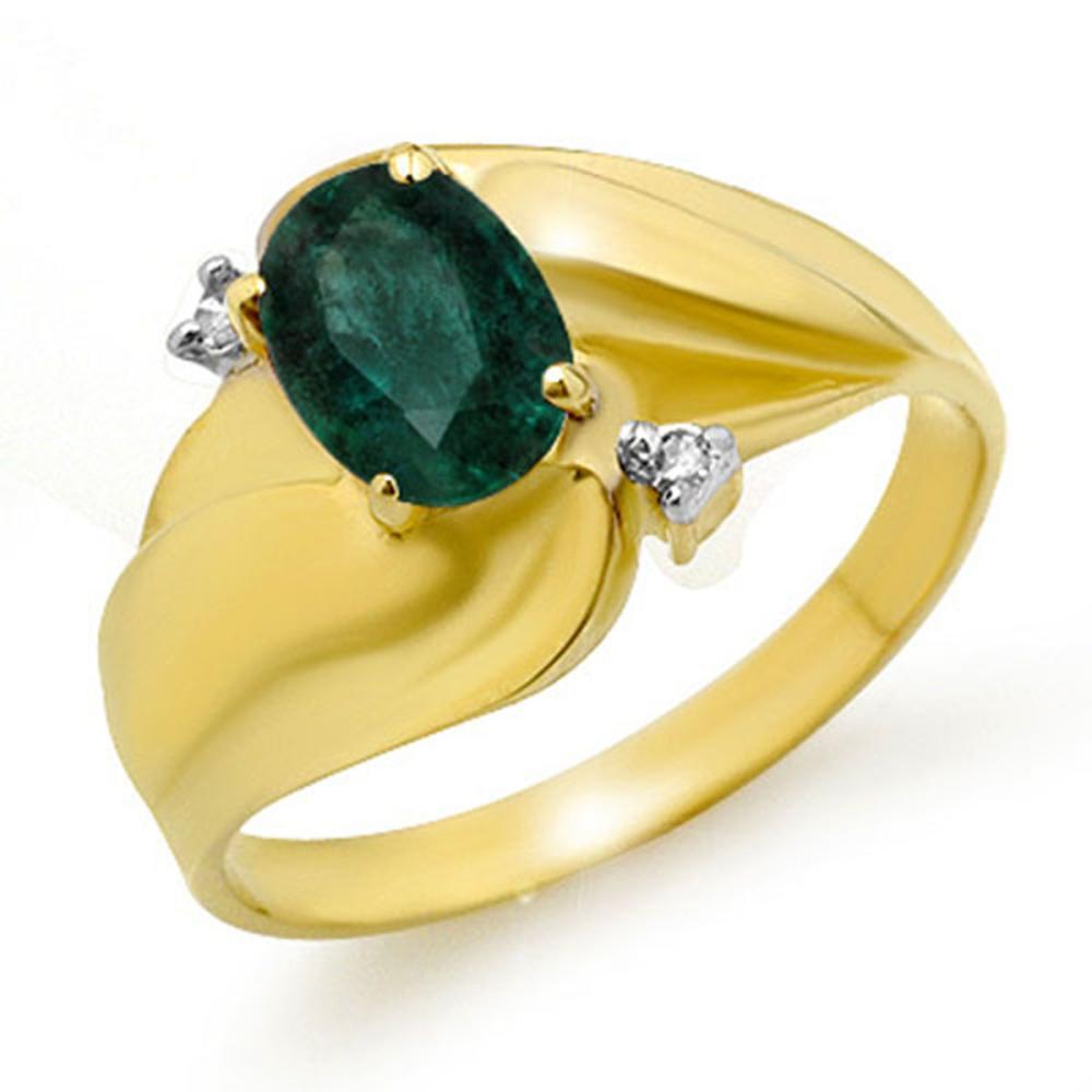 0.85 ctw Emerald & Diamond Ring 10K Yellow Gold