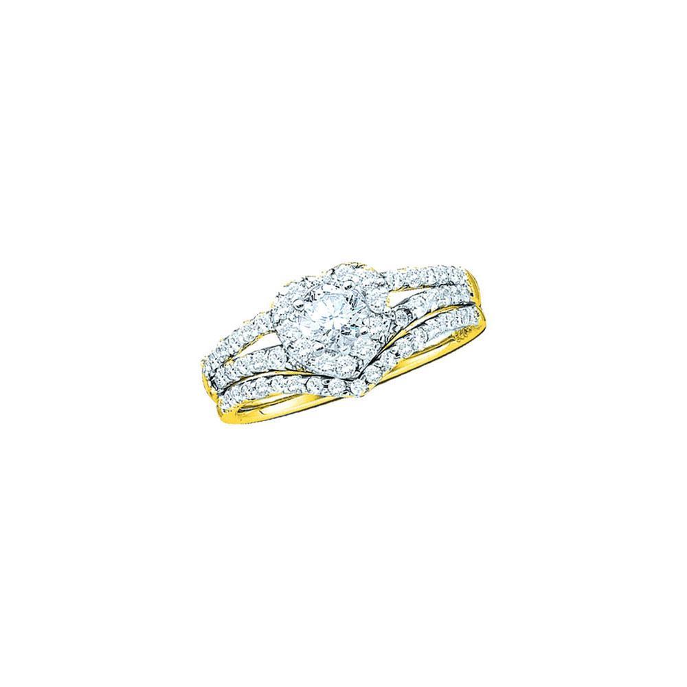 14K Yellow Gold Ring Heart 0.76ctw Diamond