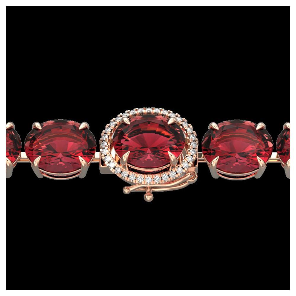 65 ctw Pink Tourmaline & Diamond Bracelet 14K Rose Gold